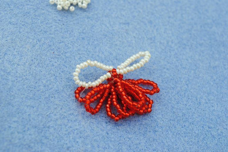 Ангел из бисера: схема плетения