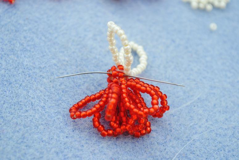Ангел из бисера: схема плетения 1