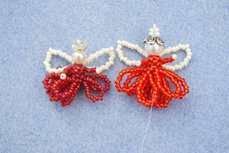 Ангел из бисера: схема плетения и мастер-класс