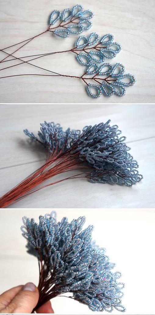 Снежинка из бисера - мастер-класс и схема плетения