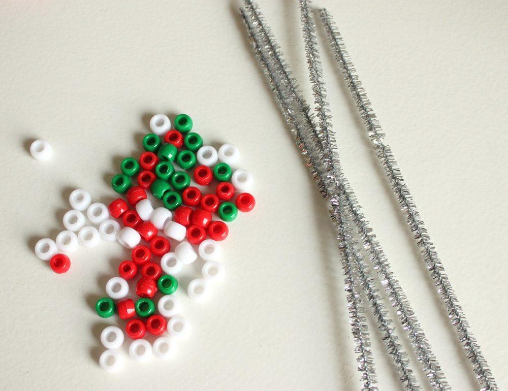 Новогоднее украшение из бисера - материалы для работы