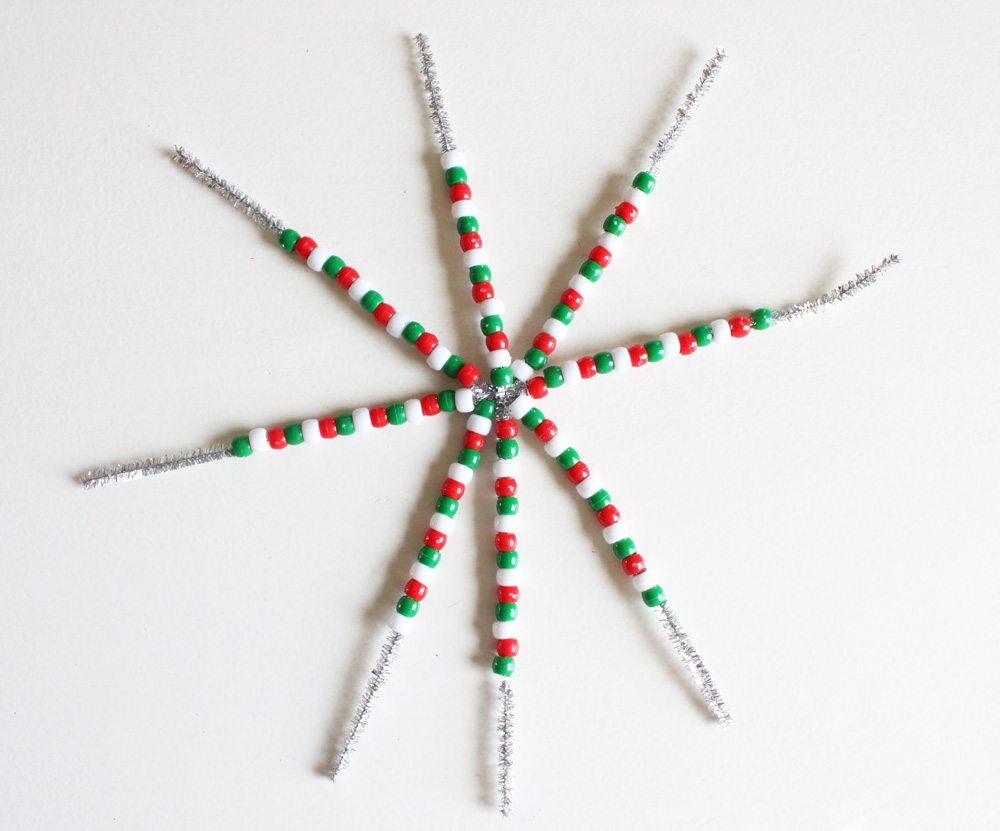 Новогоднее украшение из бисера - схема 1