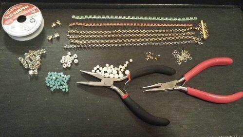 Материалы для простого браслета из бисера