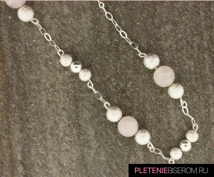 Простое ожерелье из бусин