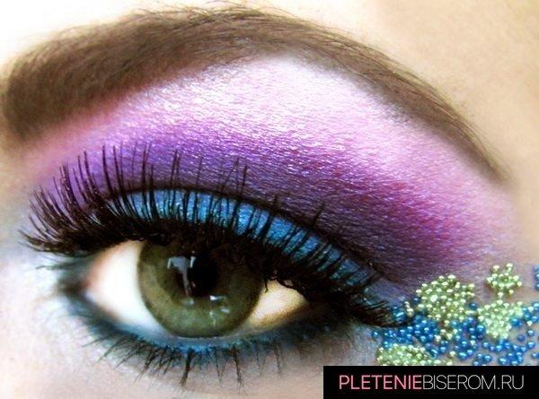 Оригинальный макияж с бисером 4