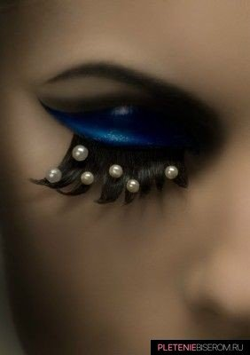 Оригинальный макияж с бисером 7