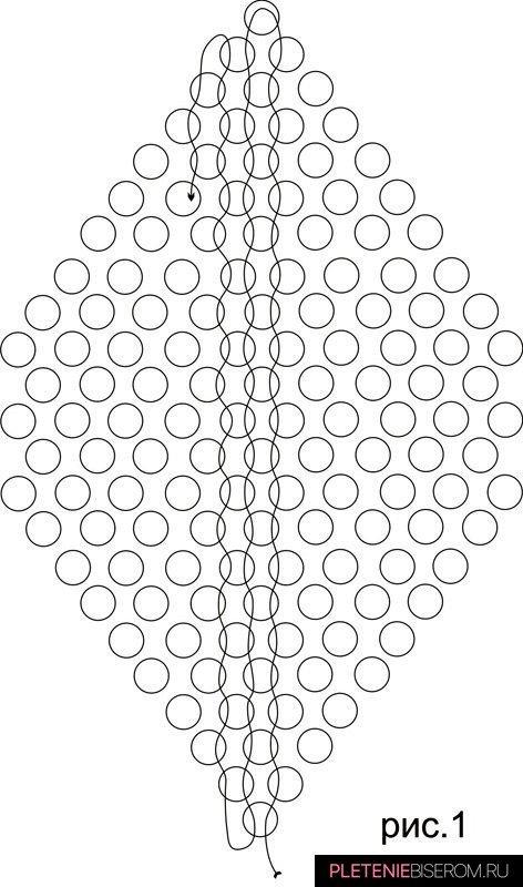 Схема плетения подснежника из бисера