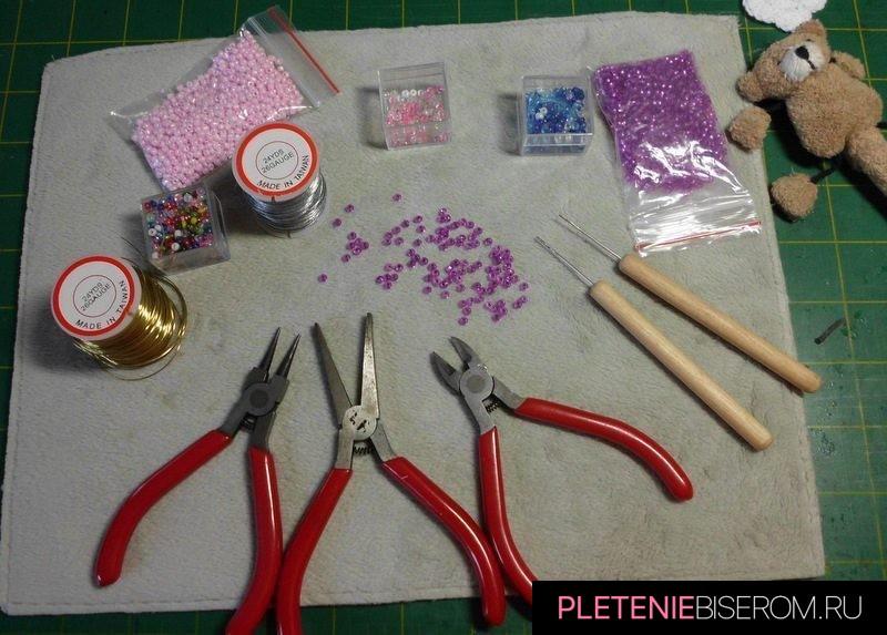 Стрекоза из бисера и проволоки - инструменты и материалы