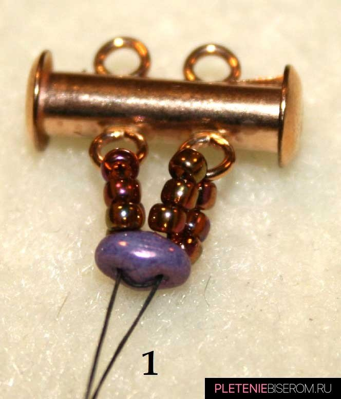 """Браслет из бисера """"Супердуо"""": схема плетения"""