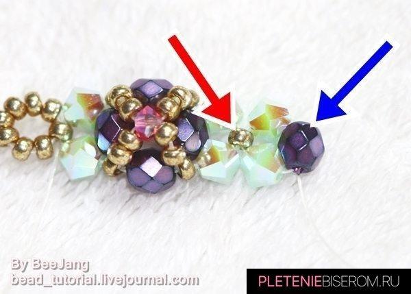 Тонкий браслет из бисера: мастер-класс и схема плетения 9