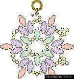 Серьги из бисера Снежинки: пошаговый мастер-класс и схема