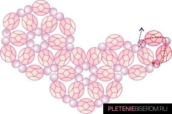 Схема плетения сердца из бисера-16