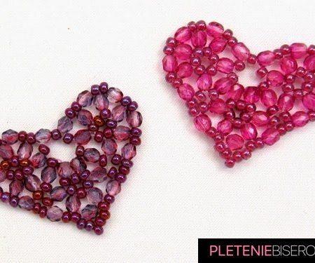 Сердце из бисера - схема плетения