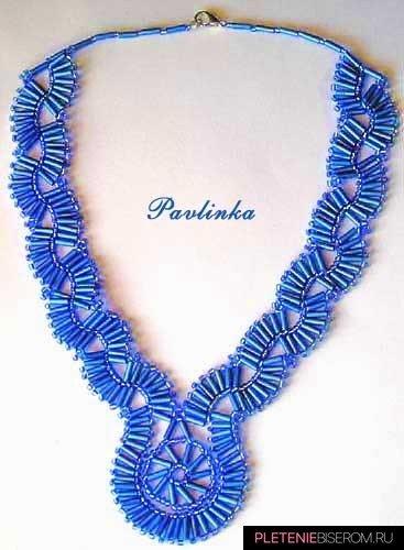 Ожерелье из стекляруса: схема плетения