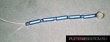 Ожерелье из стекляруса: схема плетения 2