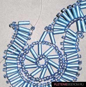 Ожерелье из стекляруса: схема плетения 7