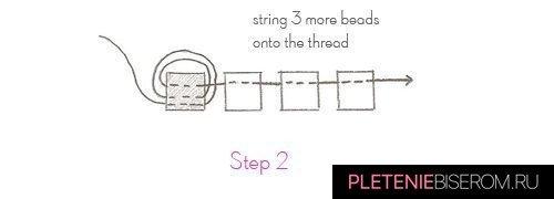 Схема простого кольца из бисера