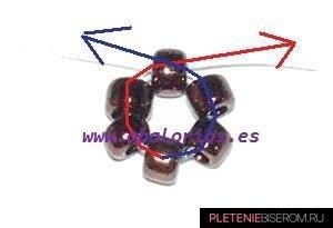 Браслет из бисера и бусин: схема плетения