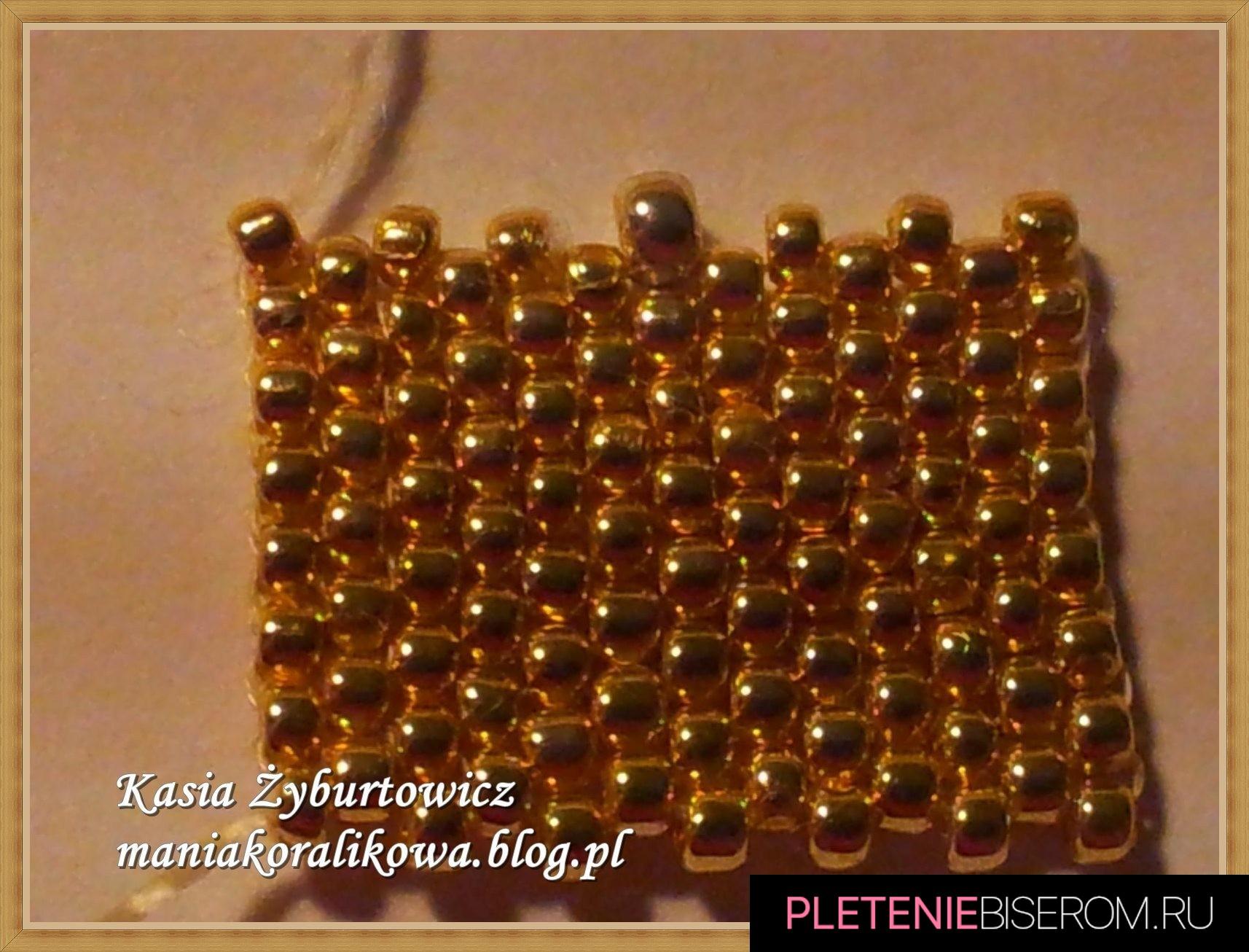 Перстень из бисера: схема плетения 2