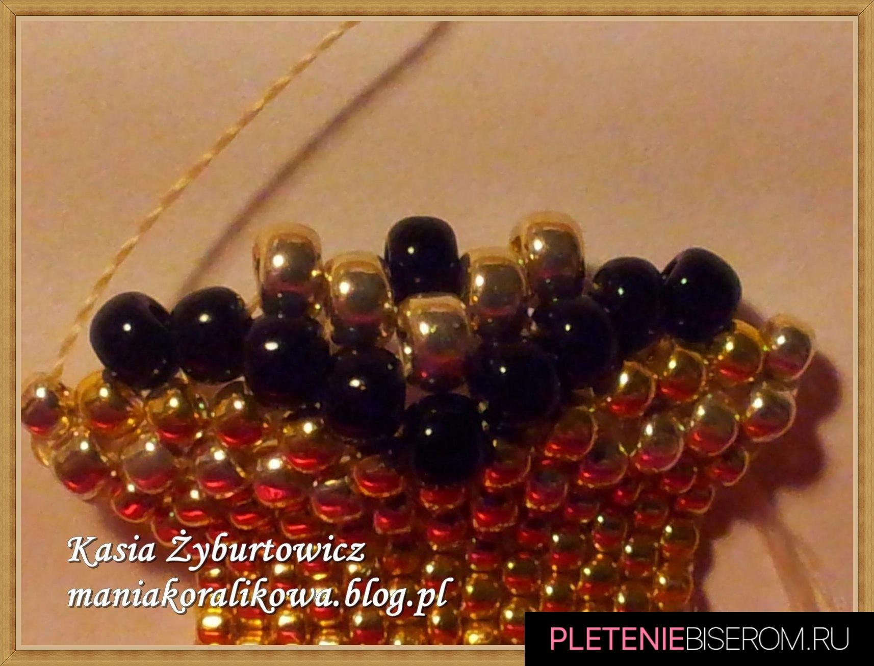 Перстень из бисера: схема плетения 3