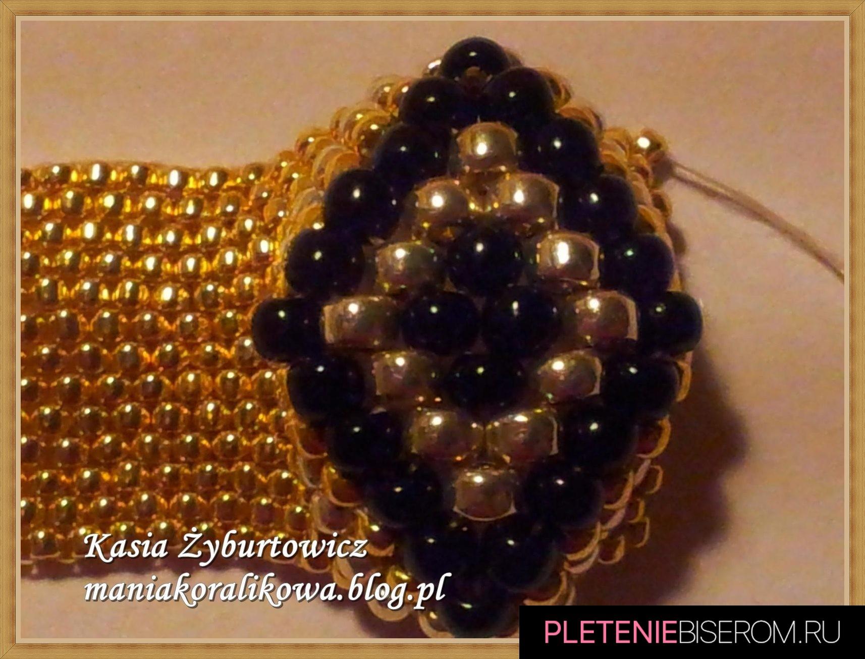 Перстень из бисера: схема плетения 5