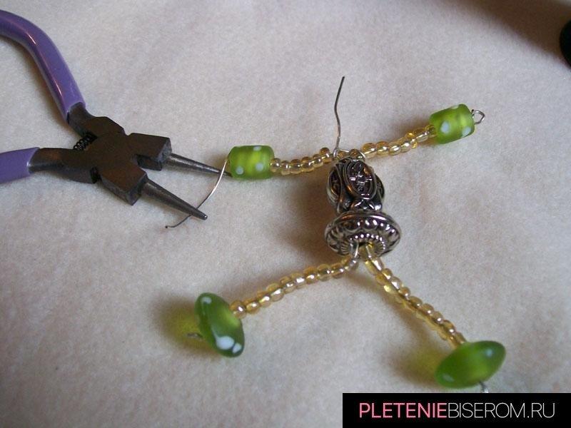 Человечек из бисера: схема плетения 2
