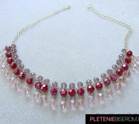 ожерелье из гранёных бусин 2