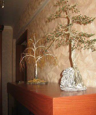 Ствол для дерева из бисера