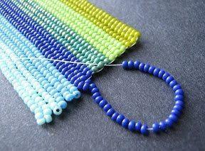 """Браслет из бисера """"Микс цвета"""" - схема плетения"""