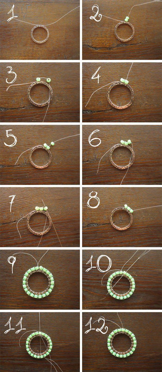 Схема плетения бижутерии из бисера