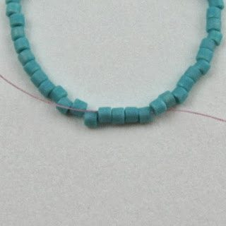 Круглая застёжка из бисера: схема плетения 1