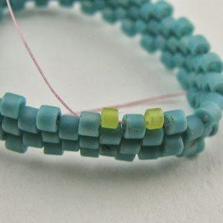 Круглая застёжка из бисера: схема плетения 2