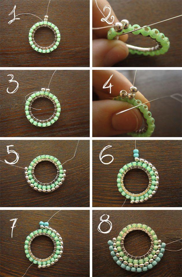 Как сделать подвески из бисера своими руками