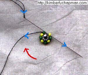 Техника оплетения круглой бусины
