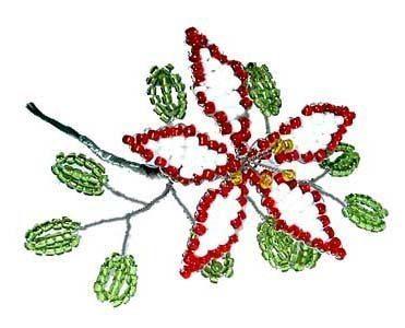 Самый простой цветок из бисера
