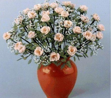 Мастер-класс - роза из бисера