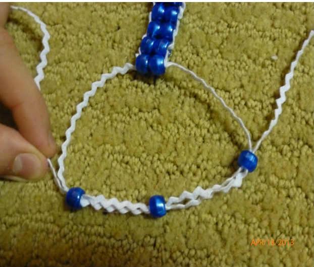Вышивка бисером по веревке