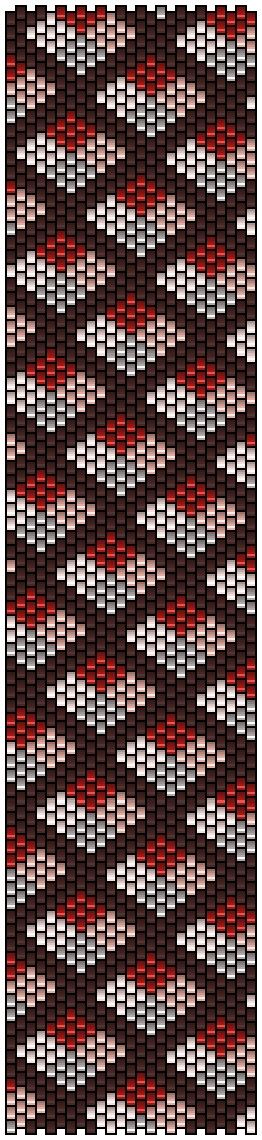 Схема браслета из бисера орнамент