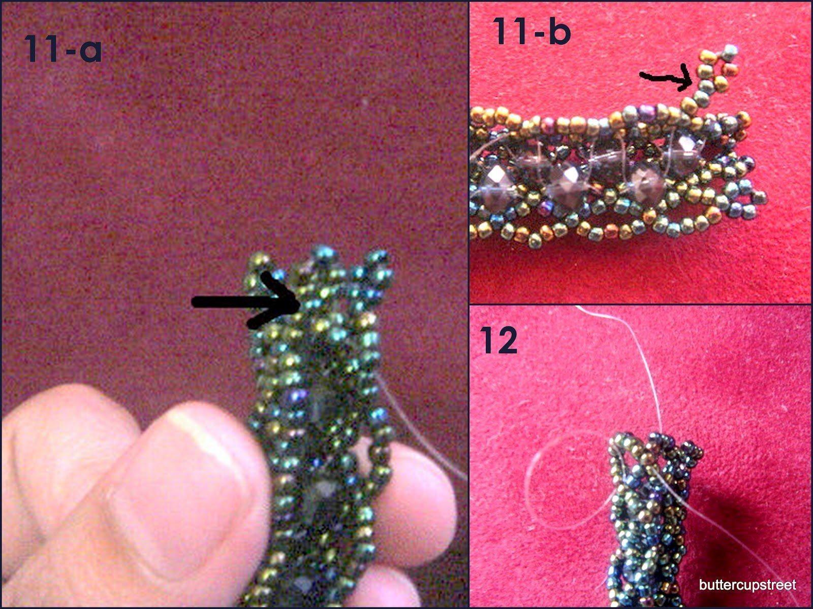beaded mesh bracelet