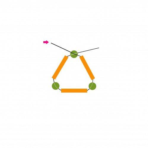 схема плетения серёжек в форме жгута