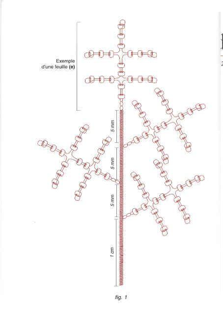 Мимоза из бисера: схема сборки