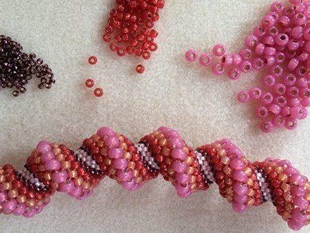 Спиральный жгут схема плетения