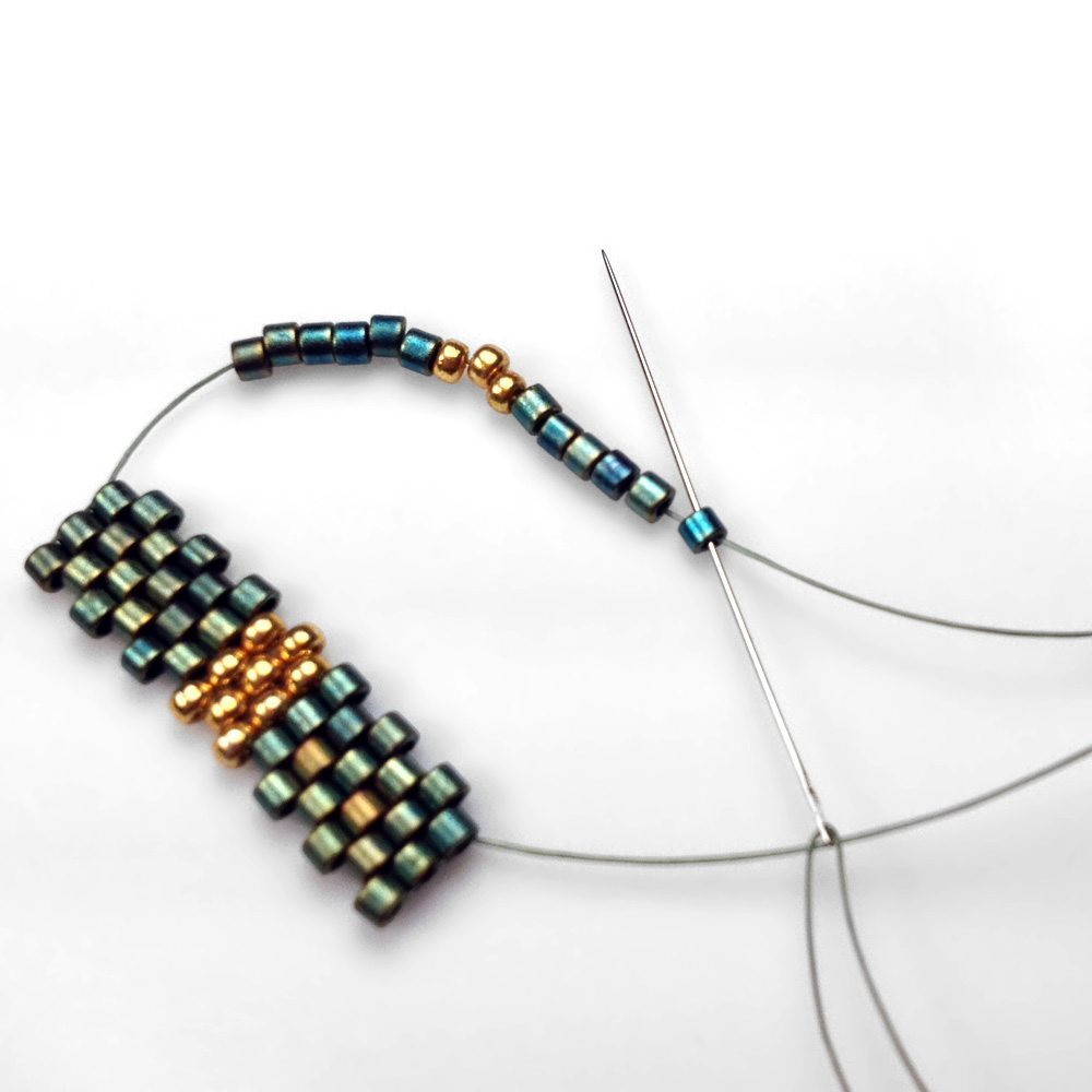 Мозаичное плетение бисером для начинающих