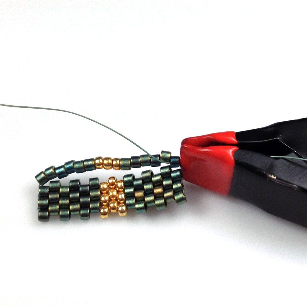 Мозаичное плетение бисером - мастер-класс