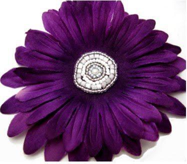 Вышивка бисером сердцевины цветка