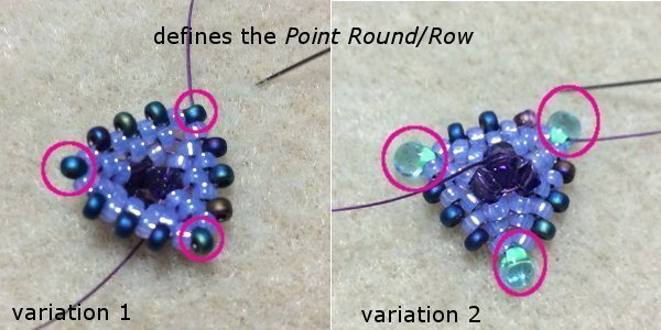 Кулон из бисера: схема плетения 1