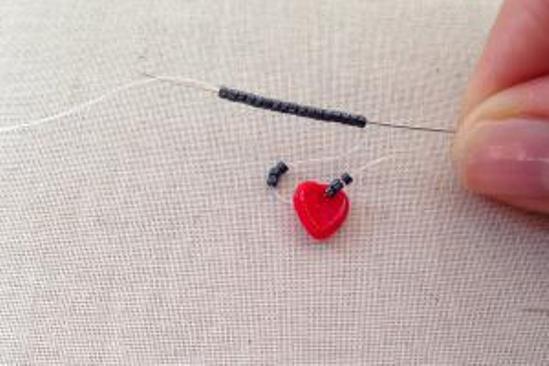 Серьги с сердечками 2