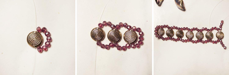 Ожерелье из бусин - схема плетения