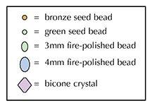 Ожерелье из бисера своими руками Цветочная поляна 1
