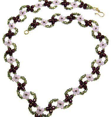 Ожерелье из бисера своими руками Цветочная поляна